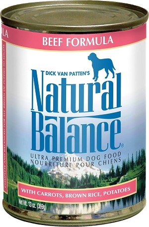 Natural Balance Beef Formula 13oz 12 Count Case