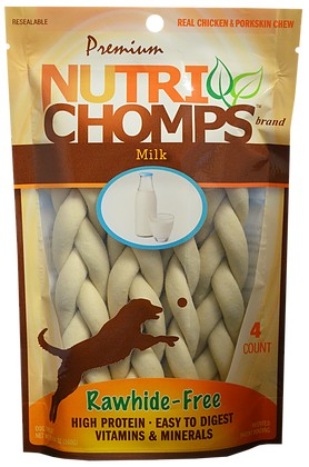 Nutri Chomps Milk Flavor Braid 9in
