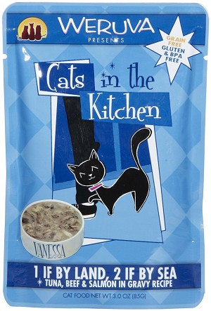 Weruva Cats In The Kitchen LAND 2 SEA 3Z 12 Count Case