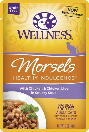 Wellness Healthy Indulgence Morsels Chicken and Chicken Liver 3oz, Case of 12