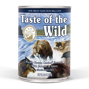Taste of the Wild Pacific Stream Grain-Free Smoked Salmon in Gravy Dog Food, 13.2 oz., Case of 12
