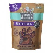 Howls Kitchen Meaty Strips Bacon & Cheese 6oz