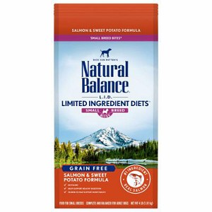 Natural Balance L.I.D. Limited Ingredient Diets Salmon & Sweet Potato Formula Small Breed Bites Dry Dog Food, 4 Lbs.