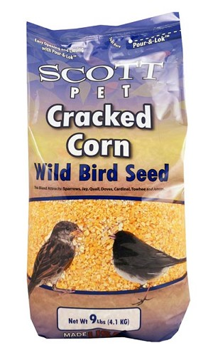 Scott Pet Cracked Corn Polybag 9 lb