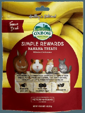 Oxbow Banana Treats 1oz