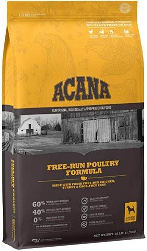 Acana Heritage Free-Run Poultry, 25lb bag