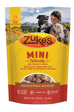 Zuke's Mini Naturals Fresh Peanut Butter Formula Dog Treats 1lb