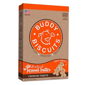 Buddy Biscuits Grain Free Oven Baked Teeny Treats with Homestyle Peanut Butter Dog Treats 8oz