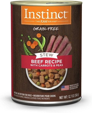 Instinct Stew Beef With Carrot and Peas 12.7oz, 6 Count Case