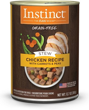 Instinct Stews Chicken with Carrots and Peas 12.7oz, 6 Count Case