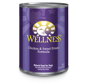 Wellness Chicken and Sweet Potato 12.5oz Canned Dog Food, Case of 12