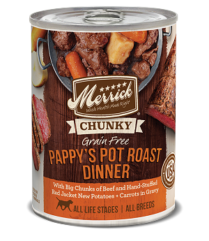 Merrick Chunky Pappy's Pot Roast Dinner 12.8oz 12 Count Case