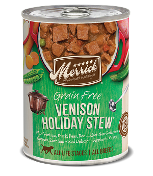 Merrick Venison Holiday Stew 12.8oz 12 Count Case