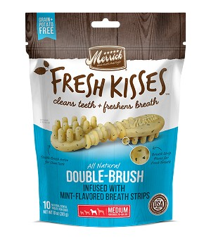 Merrick Fresh Kisses Mint Breath Strips Medium, 10oz Package