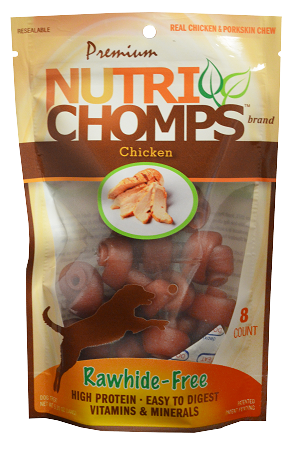 Nutri Chomps Mini Chicken Knots, 8 Count Package