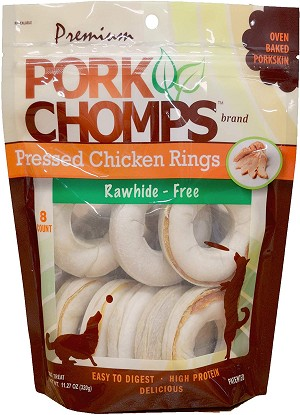 Pork Chomp Chicken Rings 3inch, 8 Count Package
