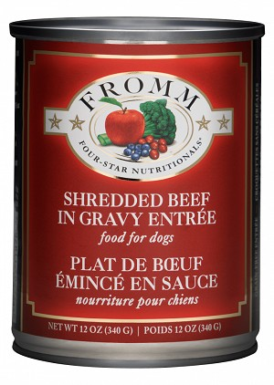 Fromm Shredded Beef & Gravy Entree 13oz CAN 12CT CASE