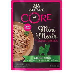 Wellness Core Mini Meals Shredded Chicken and Lamb Entree 3oz, 12 Count Case