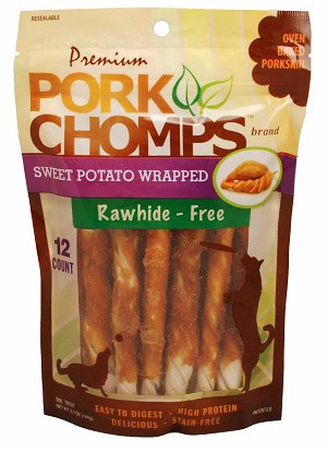 Pork Chomp Sweet Potato Twist, 12 Count Package