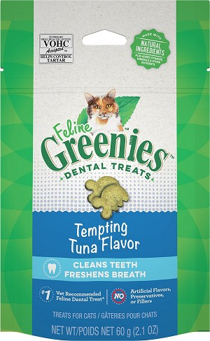Feline Greenies Tempting Tuna Dental Treats, 2.1oz