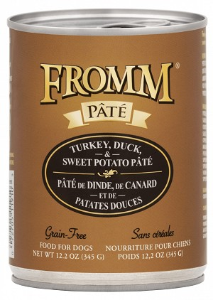 Fromm Turkey, Duck & Sweet Potato Pate 12.2oz CAN 12CT CASE